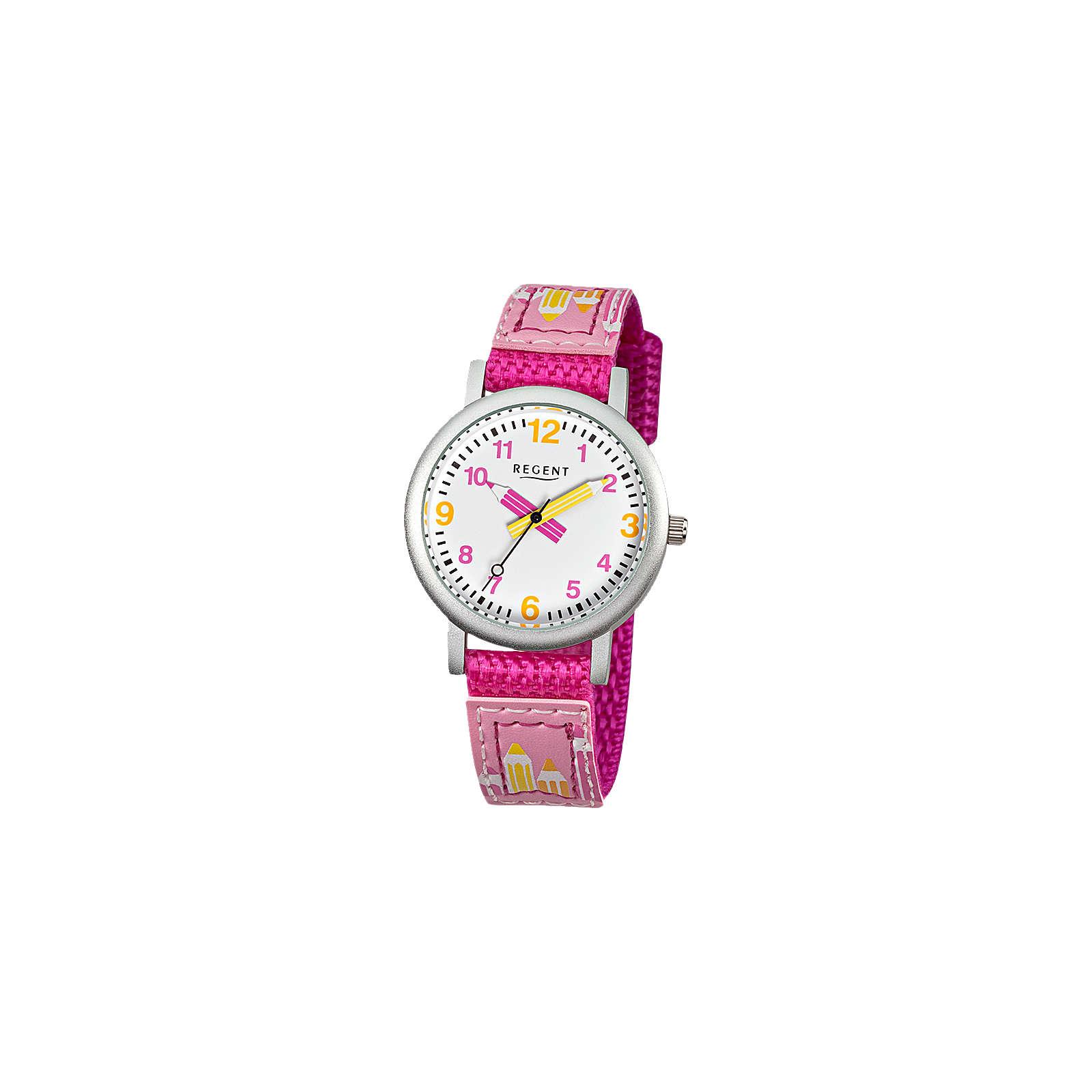 REGENT Kinder Armbanduhr Schule pink Mädchen