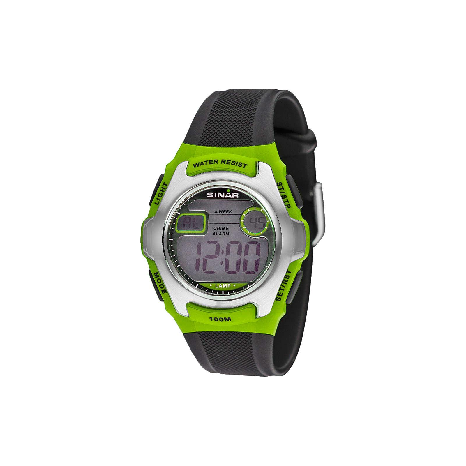 Sinar Armbanduhr Digital grün Junge