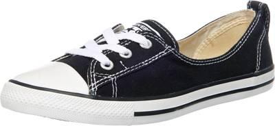 CONVERSE, Chuck Taylor Ballet Lace Slip Sneakers Low, schwarz