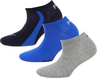 PUMA, PUMA 3 Paar Sneakersocken Socken, blau kombi