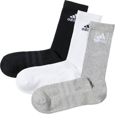 adidas Performance, Kinder Sportsocken 3er Pack, schwarzweiß