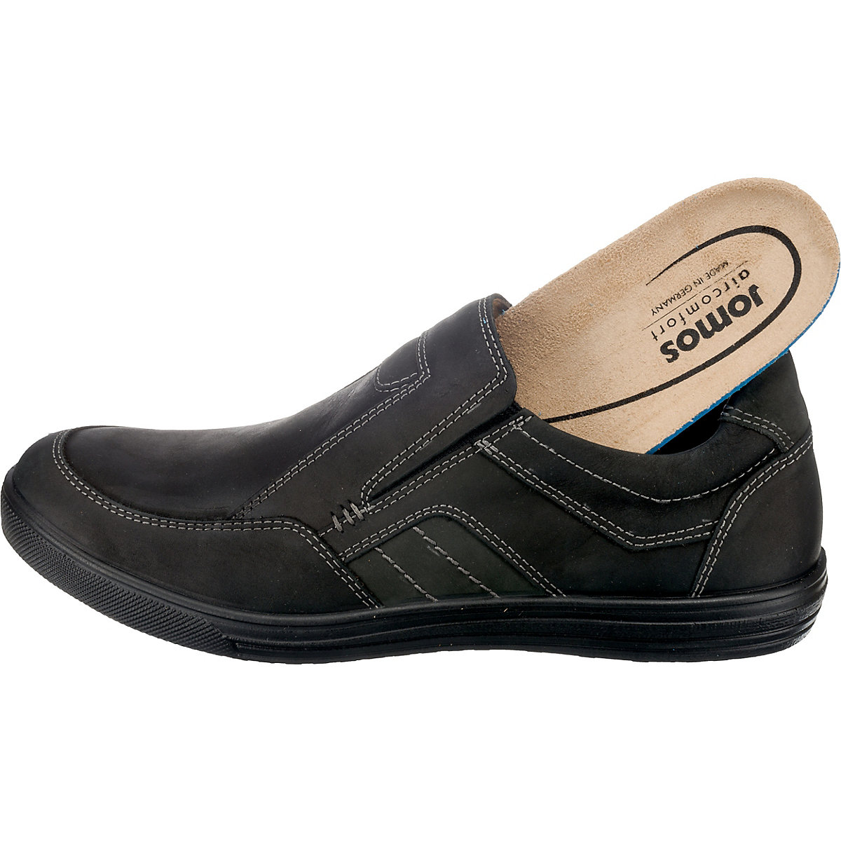 Jomos, Ariva Komfort-slipper Made In Germany, Schwarz