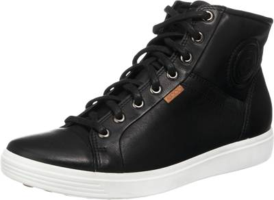 ecco, ecco Soft 7 Ladies Black Droid Sneakers, schwarz