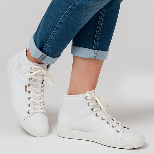ecco White Sneakers 7 Soft Droid weiß Ladies ecco PwadPq