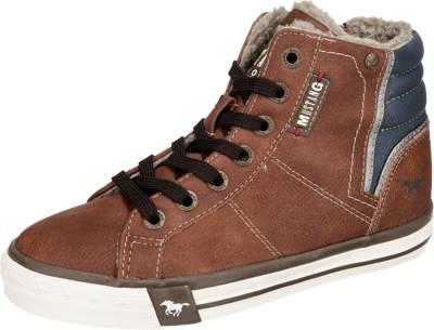 MUSTANG, Sneakers High für Jungen, gefüttert, braun