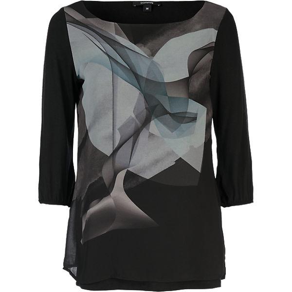 comma Shirt grau Arm 3 schwarz 4 rCfrxq