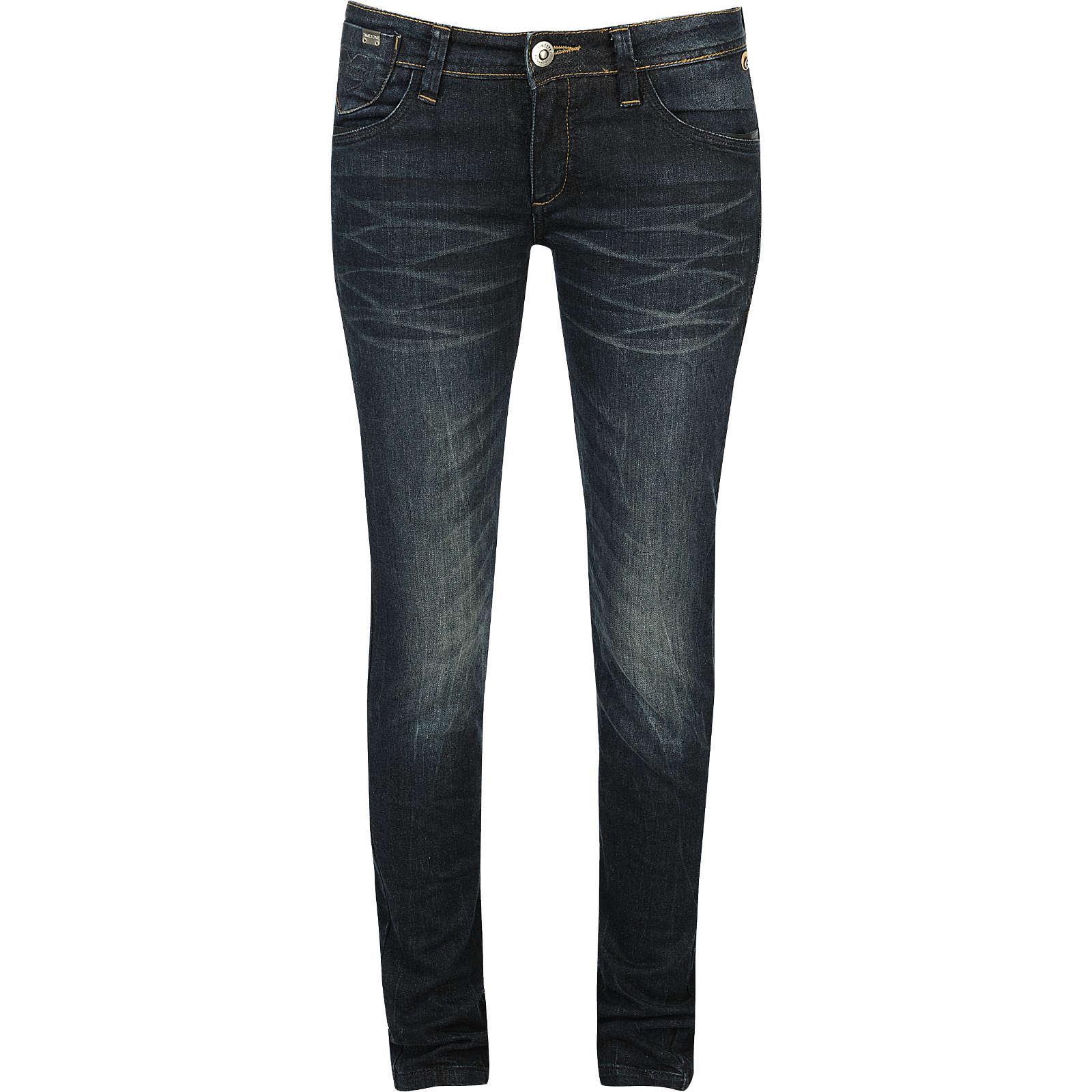 TIMEZONE Jeans Emilia Straight dark blue denim Damen Gr. W27/L32