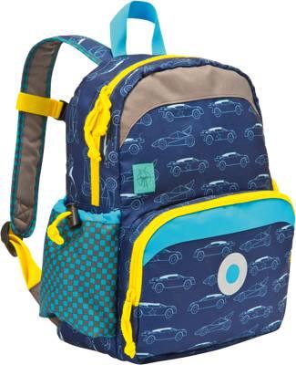 Lässig, Kindergarten Rucksack 4Kids, Mini Backpack, Adventure Bus, blue, blau