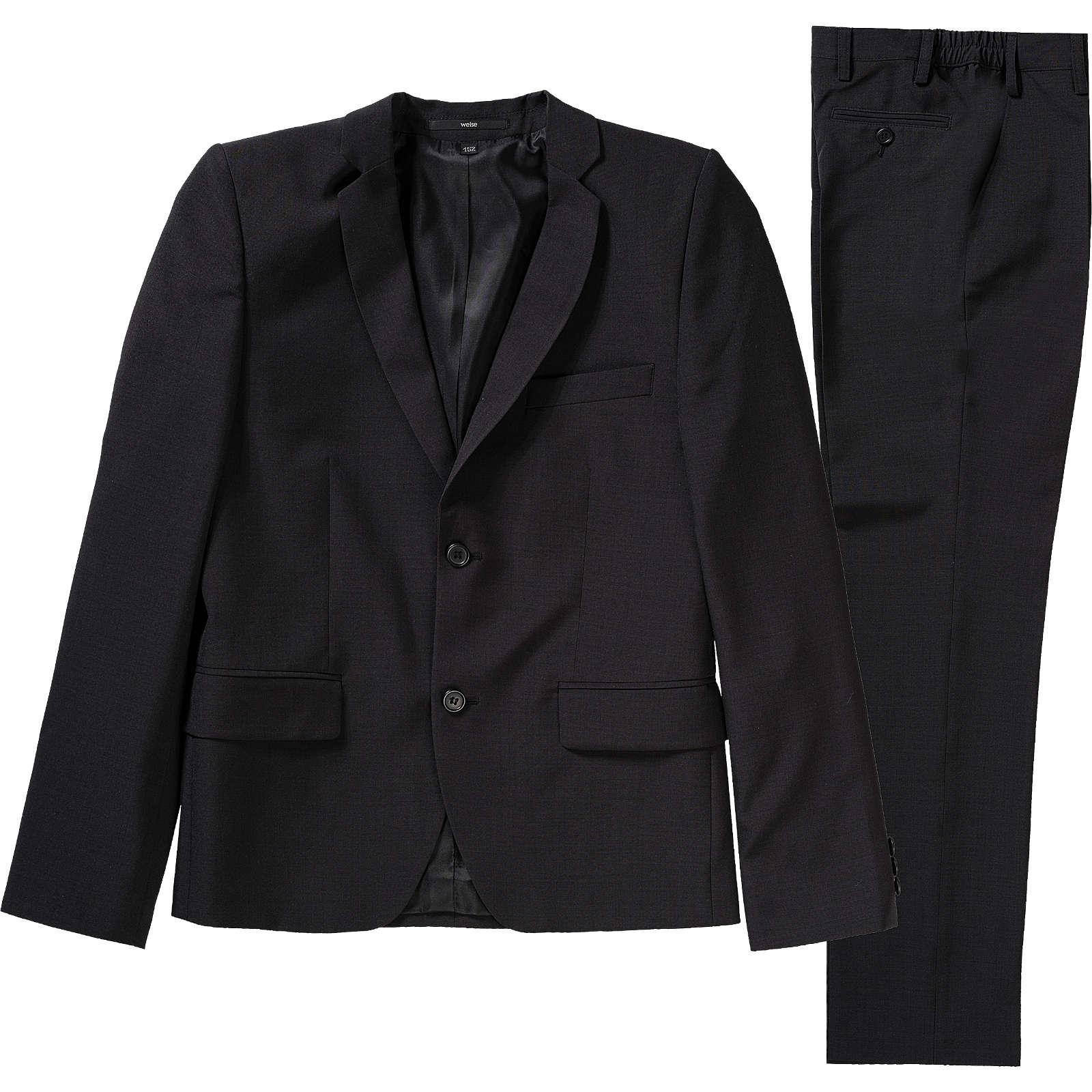 Weise Kinder Anzug, Slim Fit schwarz Junge Gr. 128
