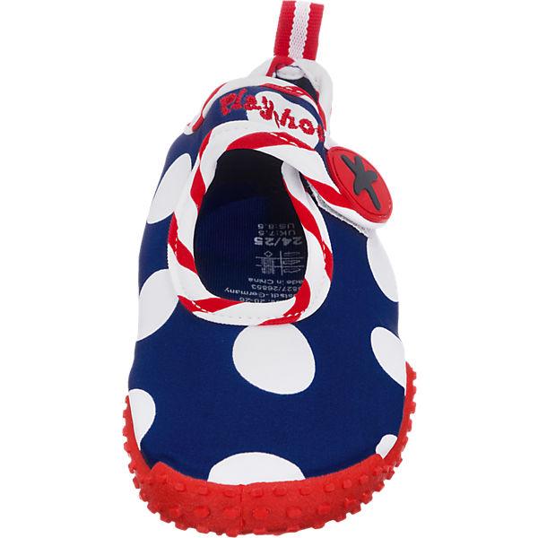 Playshoes Baby Aquaschuhe mit UV-Schutz SEEPFERDECHEN blau/weiß