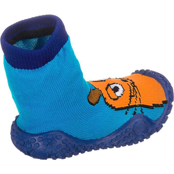 Playshoes Baby Aquasocke DIE MAUS für Jungen blau