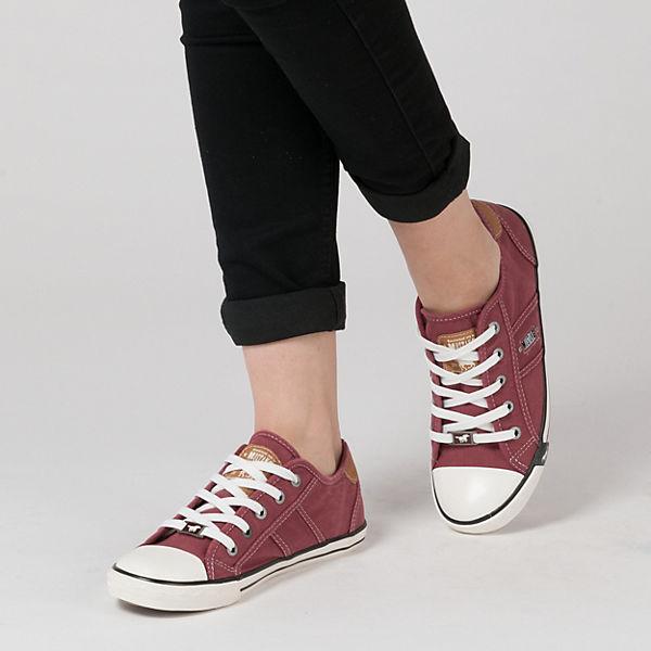 MUSTANG, Turnschuhes Niedrig, bordeaux Gute Qualität beliebte Schuhe