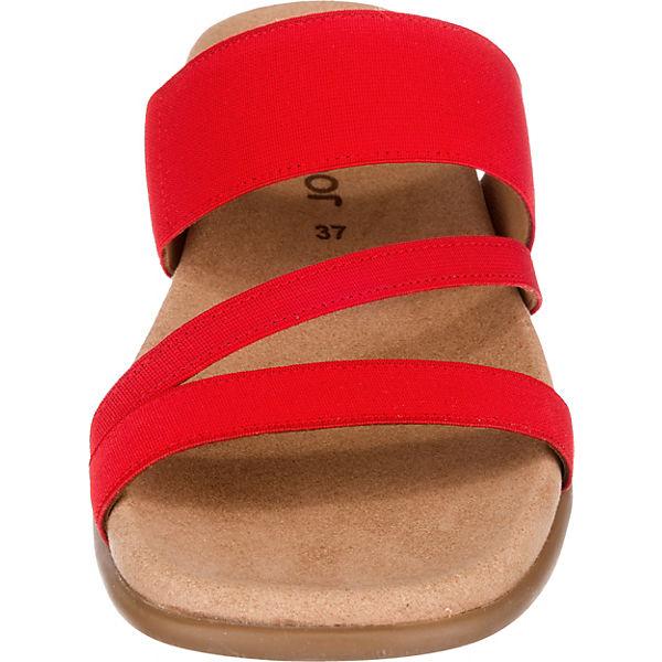 Gabor Komfort-Pantoletten rot  Gute Gute Gute Qualität beliebte Schuhe 7cc96a