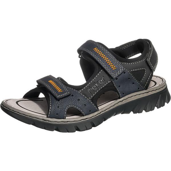 rieker Klassische Sandalen blau-kombi