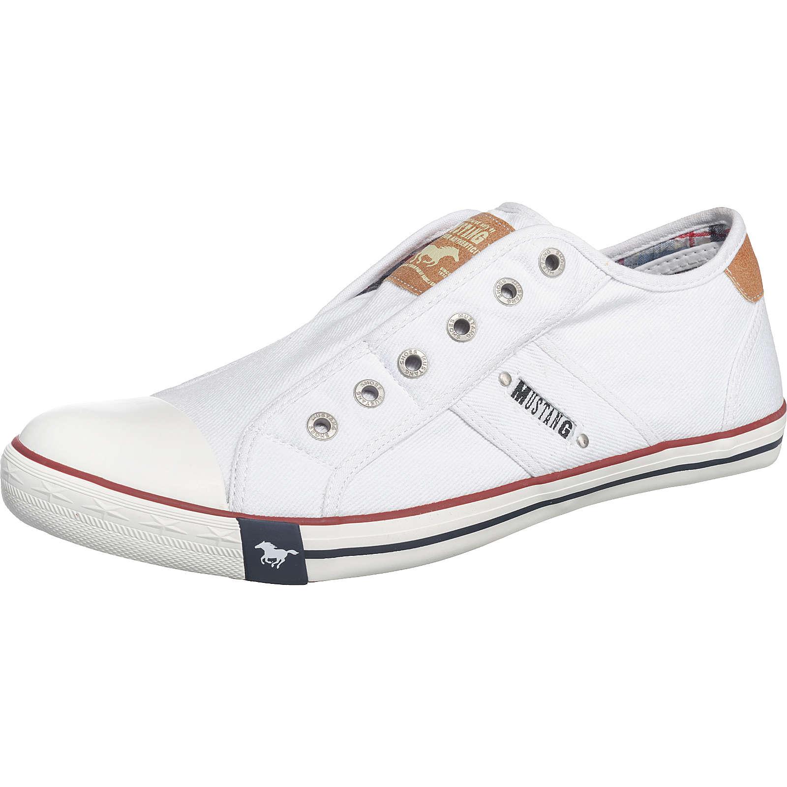 MUSTANG Sneakers Low weiß Herren Gr. 44
