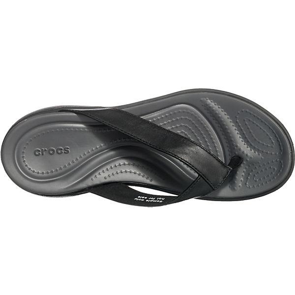 crocs Capri V Flip W Zehentrenner schwarz/grau