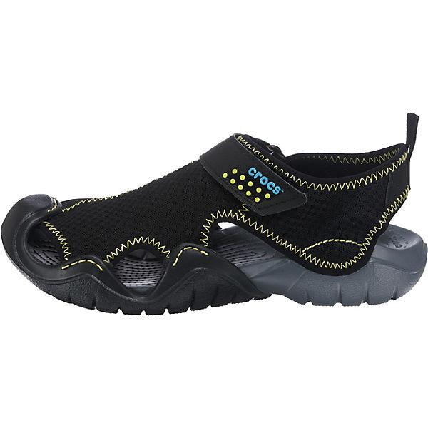 crocs, Swiftwater Sandal M  Blk/Char Outdoorsandalen, schwarz-kombi  M  8a6b1f