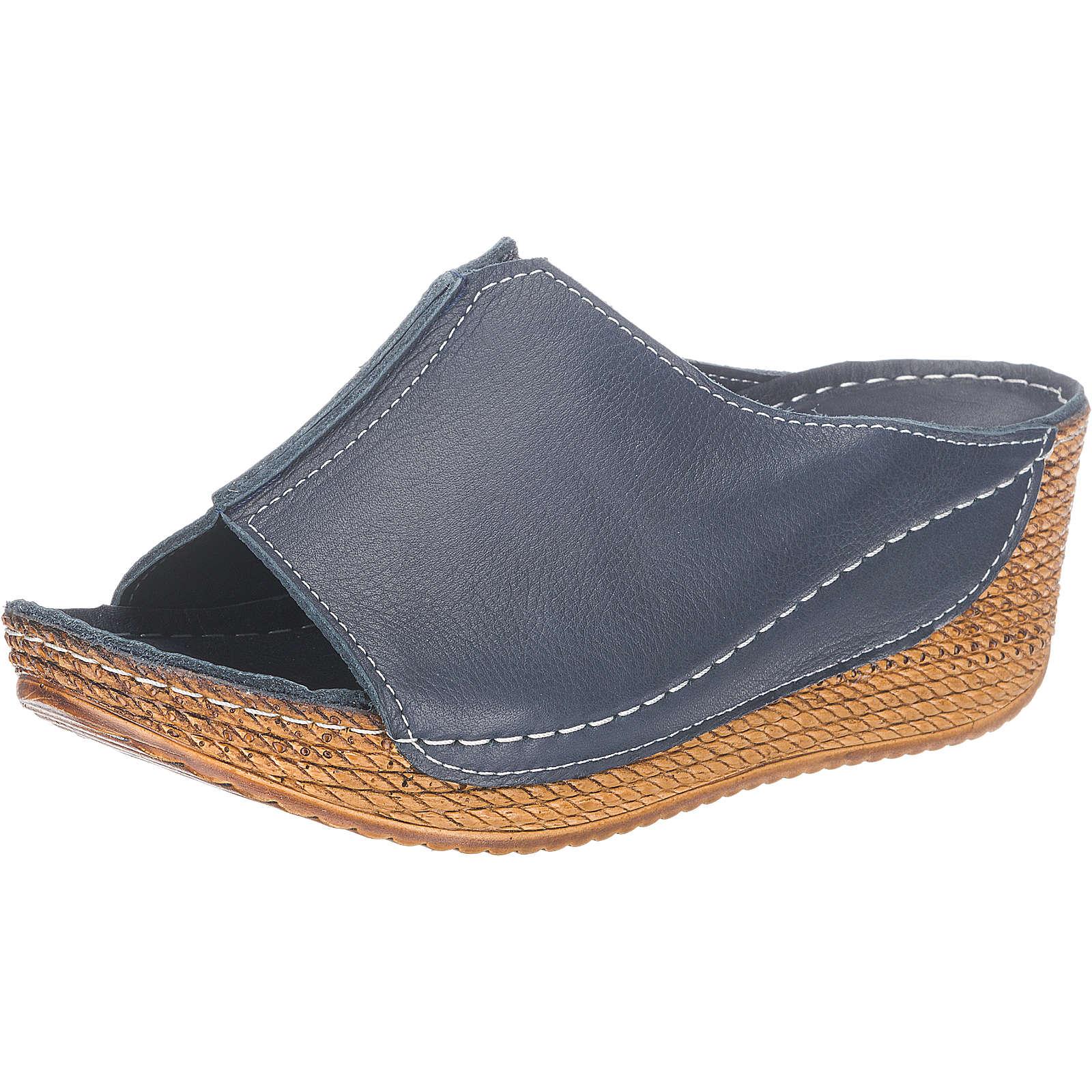 Andrea Conti Pantoletten dunkelblau Damen Gr. 41 jetztbilligerkaufen
