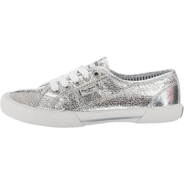 new arrival d466f c735c Pepe Jeans, Pepe Jeans Aberlady Metal Sneakers, silber ...