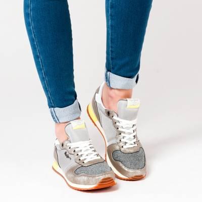 Pepe Jeans, GABLE CAVIAR Sneakers Low, silber | mirapodo