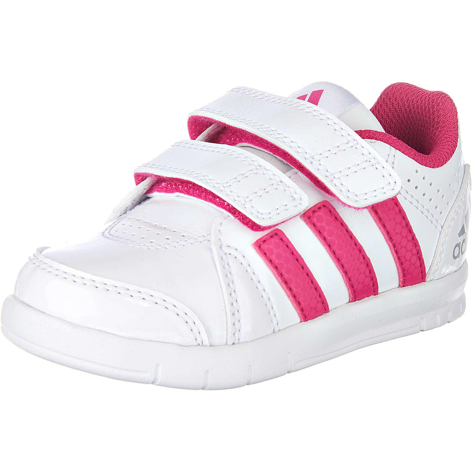 adidas Performance Baby Sneakers LK Trainer pink/weiß Mädchen Gr. 25