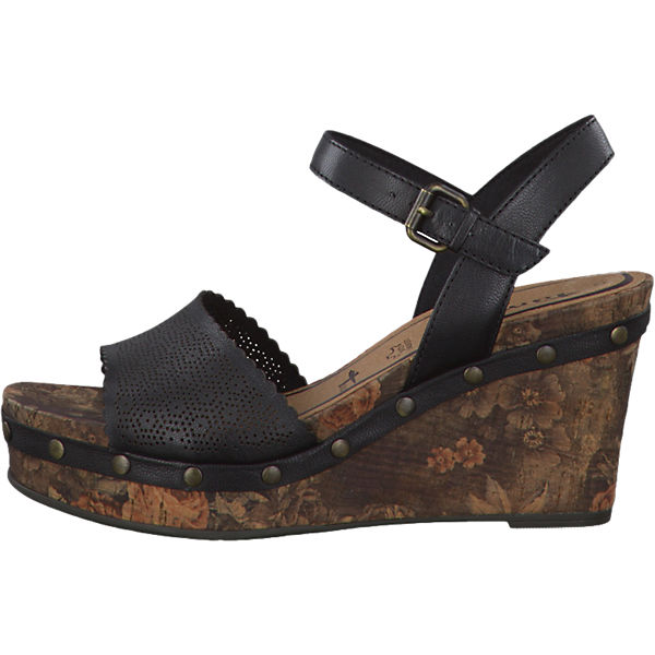 tamaris tamaris inex sandaletten schwarz leder mirapodo. Black Bedroom Furniture Sets. Home Design Ideas