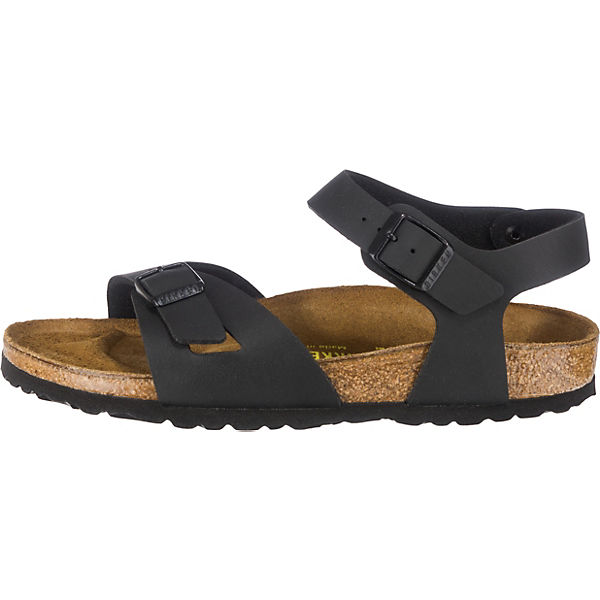 BIRKENSTOCK, Rio  schmal Komfort-Sandalen, schwarz   Rio f515ea