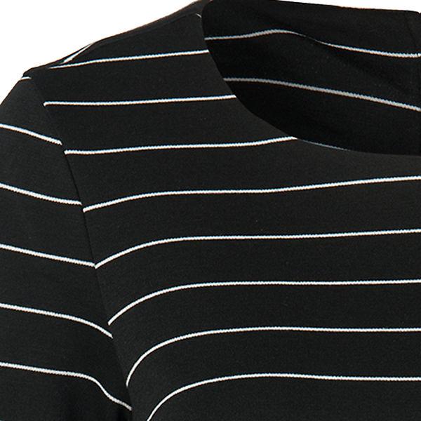 Jerseykleid VILA schwarz weiß weiß schwarz Jerseykleid VILA xavqFwE