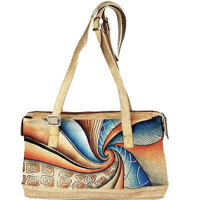 GreenLand NATURE Art + Craft Schultertasche Leder 39 cm