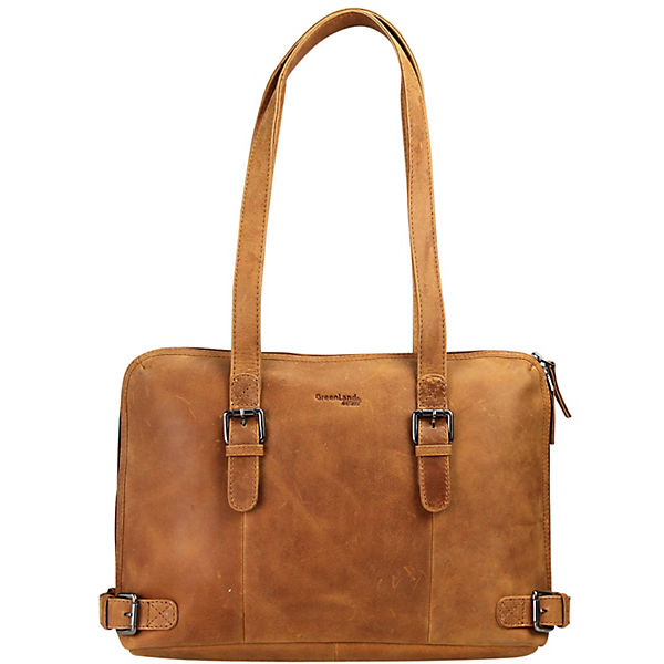 Greenland Nature Light Shopper Tasche Leder 38 cm