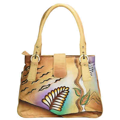 Greenland Nature Art + Craft Shopper Tasche Leder 36 cm