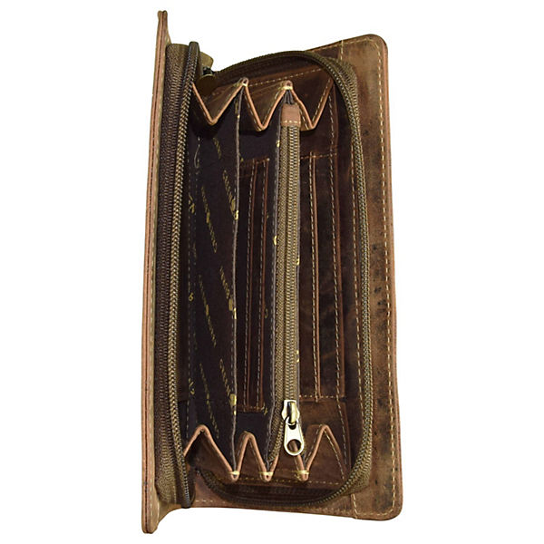 Greenburry Greenburry Vintage Geldbörse Leder 18 cm braun