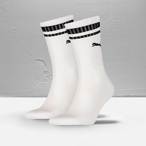 PUMA 2 Paar Socken weiß