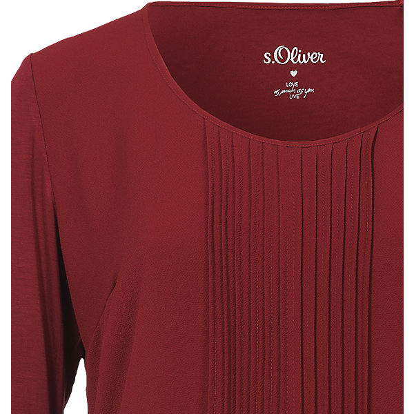 Oliver BLACK LABEL s Langarmshirt rot xYwAq4Sd