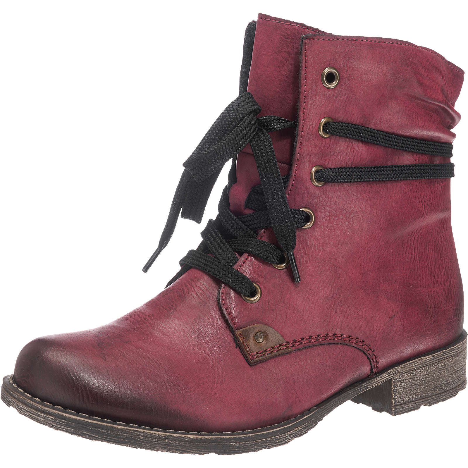 billig rieker schn rstiefeletten rot damen gr 39 outlet stiefel boots stiefeletten. Black Bedroom Furniture Sets. Home Design Ideas