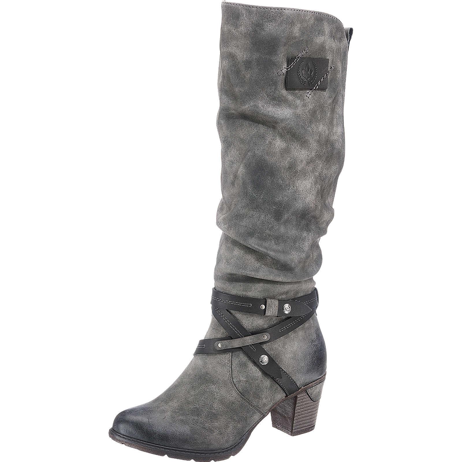 rieker Stiefel grau-kombi Damen Gr. 42