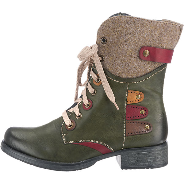 rieker, Gute rieker Stiefeletten, grün-kombi  Gute rieker, Qualität beliebte Schuhe 3bc469