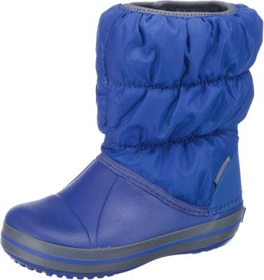 crocs, Kinder Winterstiefel Winter Puff Boot, blau