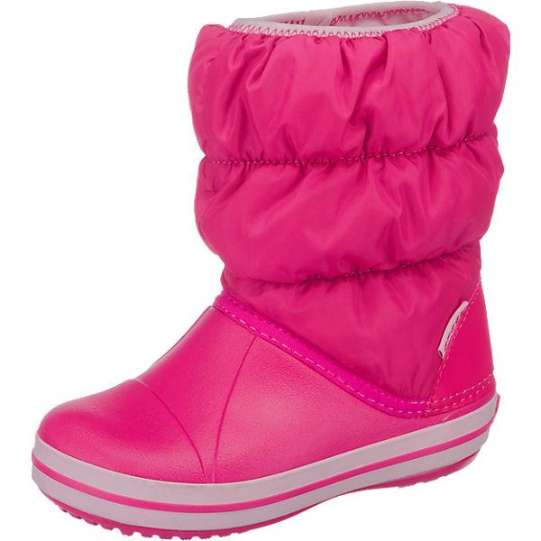 best service fc128 bf3c7 crocs, Kinder Winterstiefel Winter Puff Boot, pink