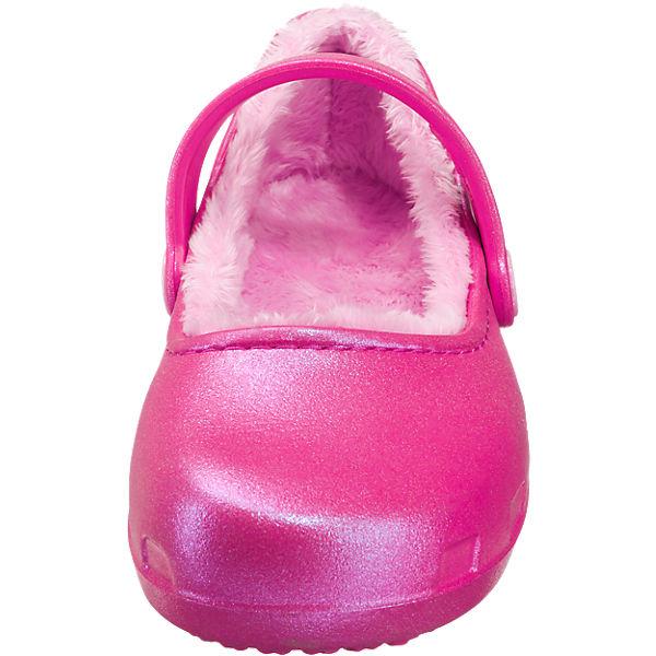 crocs Kinder Hausschuhe Karin Lined Clog gefüttert pink
