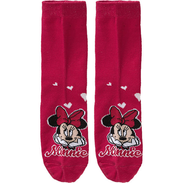 DISNEY MINNIE MOUSE Socken 3er-Pack für Mädchen rot