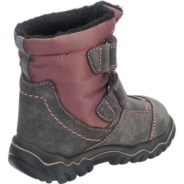 elefanten Baby Winterstiefel TEX, Weite W für breite Füße, für Mädchen grau