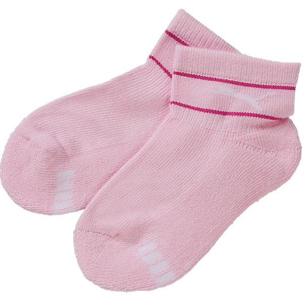 PUMA Doppelpack Kinder Strümpfe pink/weiß