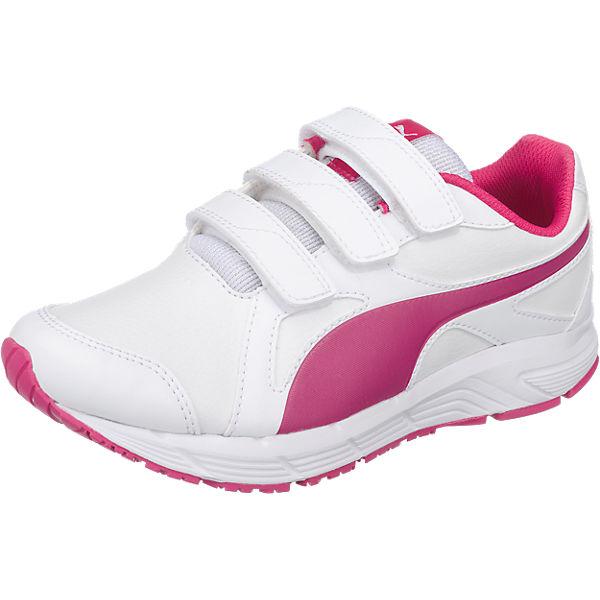PUMA Sportschuhe Axis v4 für Mädchen pink/weiß