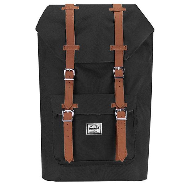 Herschel Herschel Little America Mid Volume Backpack Rucksack 38 cm Laptopfach schwarz-kombi