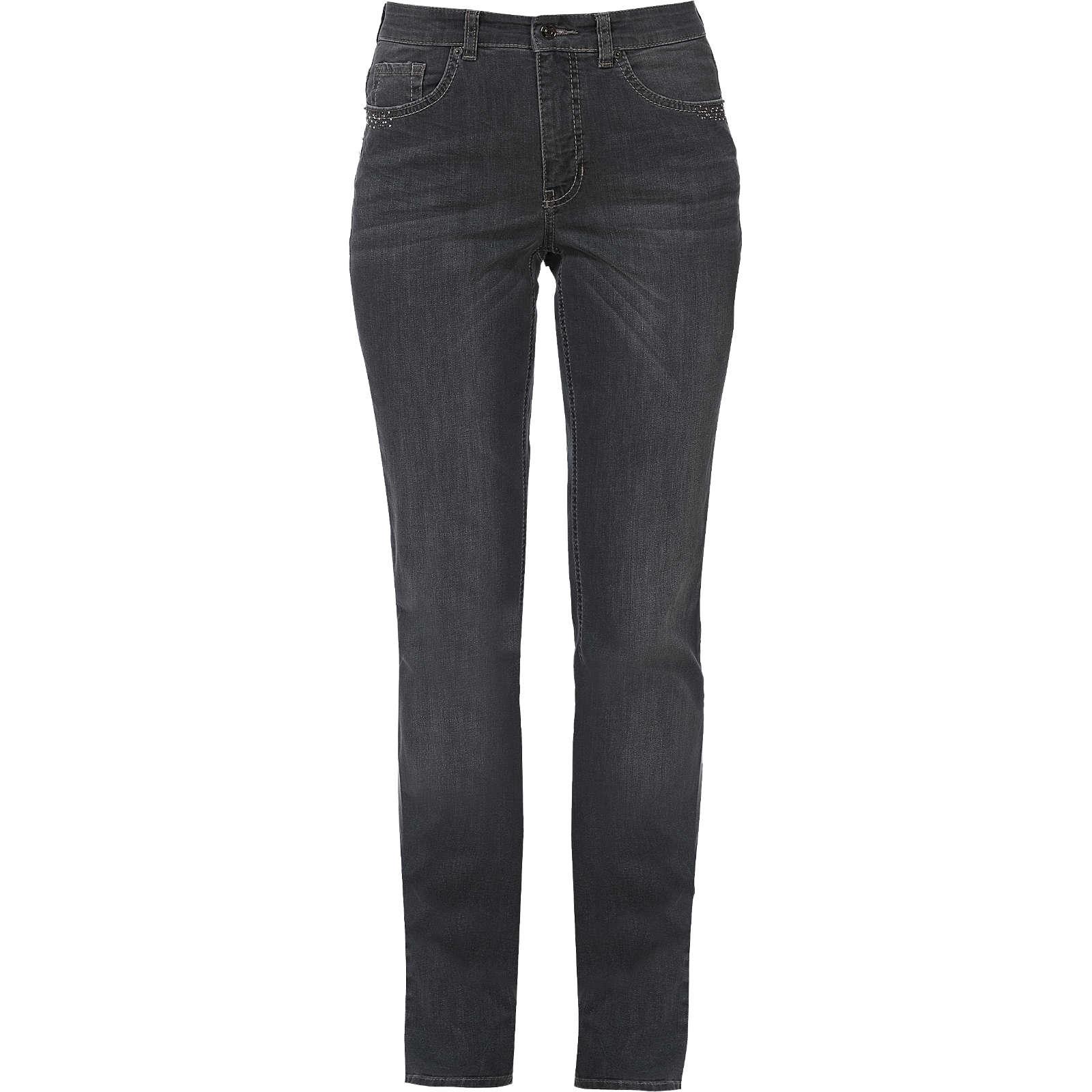 MAC Jeans Melanie Glam Dust Straight grau Damen Gr. 38/L32
