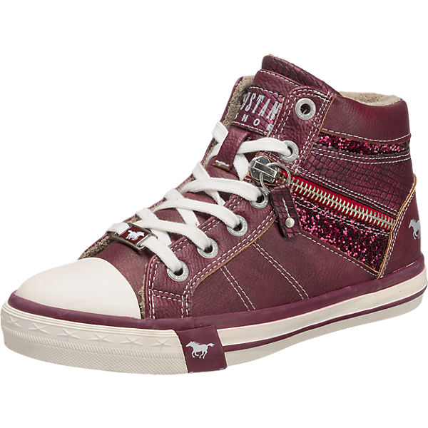 new style d716e be278 MUSTANG, Sneakers High für Mädchen, bordeaux