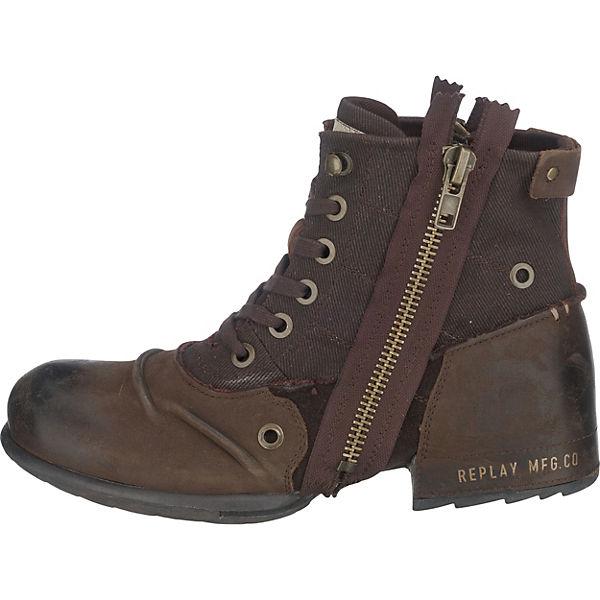 REPLAY REPLAY Qualität Clutch Stiefeletten dunkelbraun  Gute Qualität REPLAY beliebte Schuhe 3d02e9