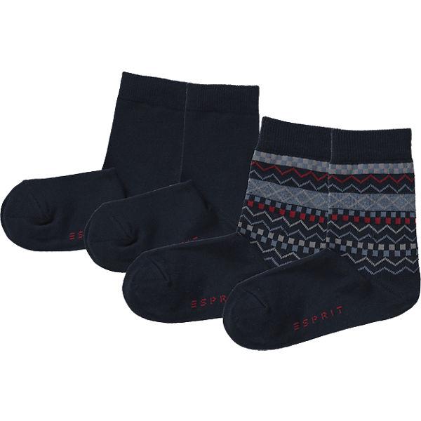 ESPRIT Kinder Socken Doppelpack dunkelblau Junge Gr. 31-34 Sale Angebote Senftenberg