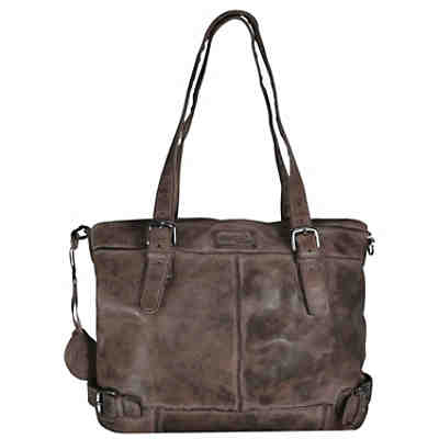 Greenland Femi & Nine Color Shopper Tasche Leder 40 cm